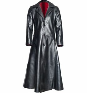 585d8acd6 Details about Wesley Snipes Blade Trinity Leather Long Trench Coat