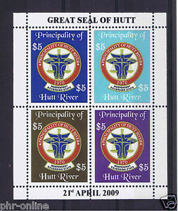 Principality-of-Hutt-River-2009-39th-Anniversary-Sheetlet-MUH-4-stamps