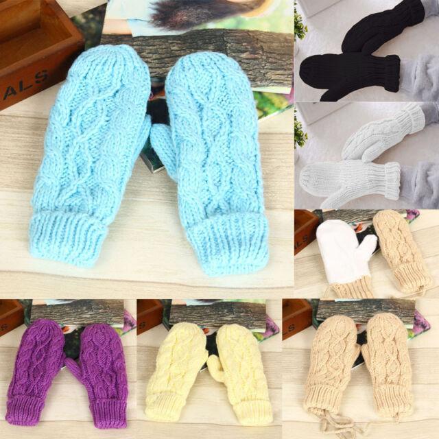 USA New Fashion Women's Winter Warm Knitted Gloves Warmer Mittens Finger Gloves