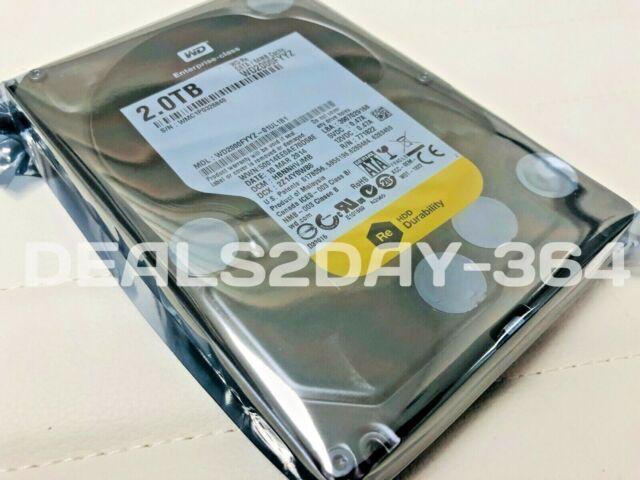 """Western Digital 2TB WD2000FYYZ 7200RPM 64MB Caché SATA 6.0Gb/S 3.5"""" Disco Duro"""