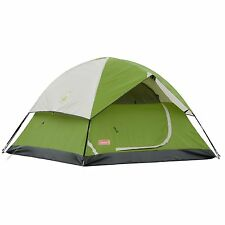 Coleman Sundome 3 Person 7 x 7 Feet 2-Pole Camping Tent, Green | 2000027925