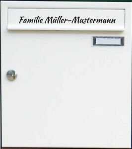 namensaufkleber aufkleber mit namen familie f r ihren briefkasten beschriftung ebay. Black Bedroom Furniture Sets. Home Design Ideas
