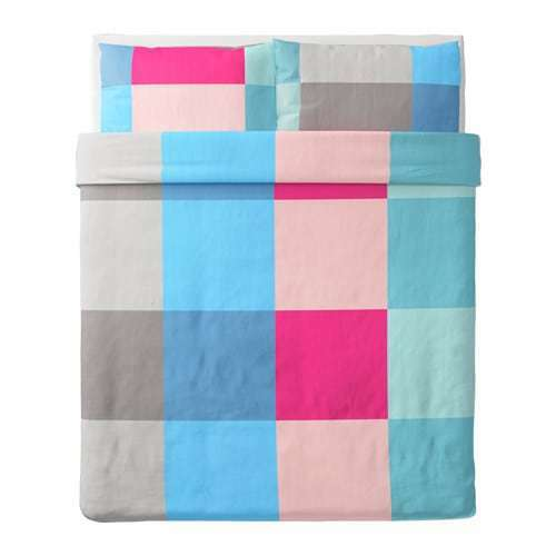 BRUNKRISSLA Duvet Cover and pillowcase(s), TWIN, Multicolor, 703.754.96 - NEW