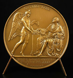 Medal-1970-Louis-XVIII-Accesion-in-the-Throne-1795-Optimo-Drunk-Jeuffroy-Andrieu
