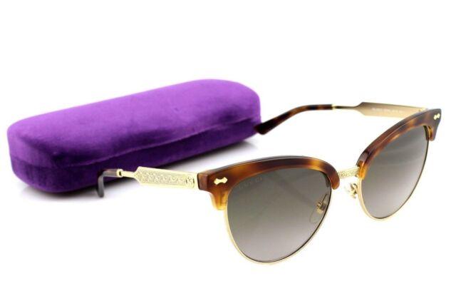ccbad857b85 RARE NEW Genuine GUCCI Havana Gold Brown Club Master Sunglasses GG 4283S  CRX HA