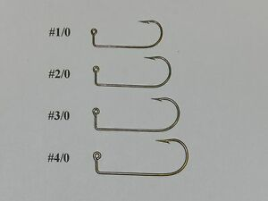 Details about 100 SIZE 2/0 MUSTAD 32755BR (32756) Aberdeen Jig Hooks for DO  IT Molds 90 degree