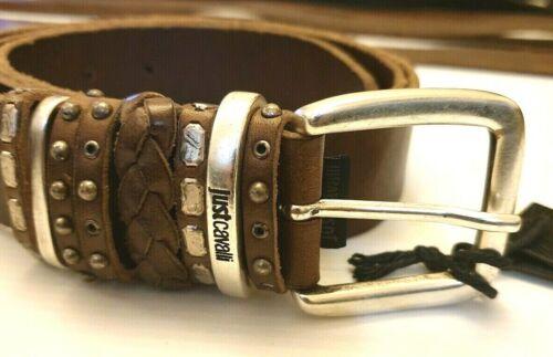 Cintura in Pelle marrone in Multi loop Just CAVALLI 46.5 pollici di lunghezza 100