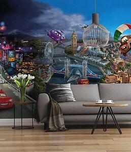 Disney-Papier-Peint-Mural-Mur-pour-Enfants-Chambre-Poster-Geant-Style-Cars-Monde
