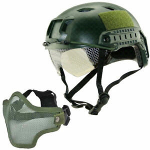 Military-Tactical-Airsoft-Paintball-SWAT-Protective-Fast-Helmet-W-Goggle-Mask