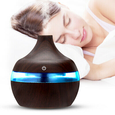 Neu LED Ultraschall Luftbefeuchter 500ml Aroma Diffuser Aromatherapie Duftlampe