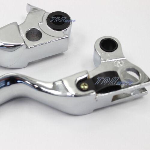 Clutch Brake Chrome Lever Levers for Harley Davidson Softail Sportster Dyna