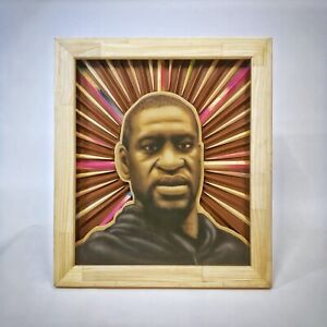 George-Floyd-Tribute-Artwork-titled-034-BLM-034-by-artist-Dusty-Rich-Charity-Auction