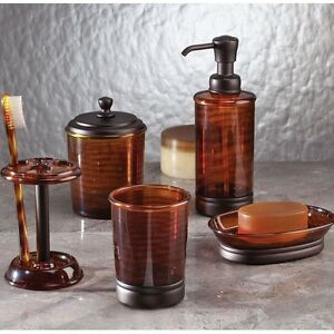 Brown tinted bath accessories bathroom sink accessory oil for Bronze and silver bathroom accessories