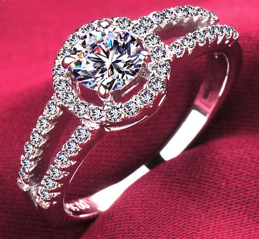 Size 5-10 Deluxe Womens Wedding Ring Pave Set White Sapphire 925 Silver