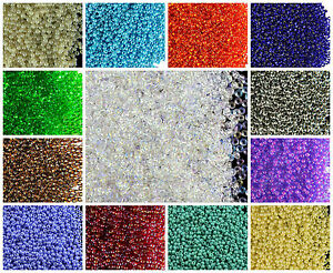 CHOOSE-COLOR-20g-11-0-2-1mm-Seed-Beads-Rocailles-Preciosa-Ornela-Czech-Glass