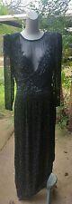 RARE Vintage 70s A.J. Bari beaded evening dress size 14