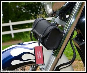 Sacoche-de-fourche-en-Cuir-Rec-Simple-Volusia-Sportster-iron-forty-VN-Harley