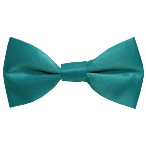 Teal Green Blue Kid/'s Straight Cut Solid Pre-tied Strap Bowtie Boy/'s Bowtie