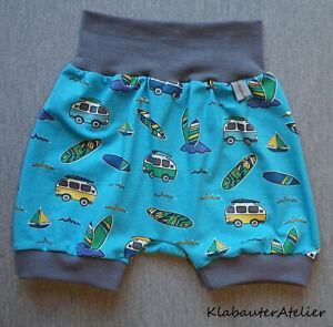 Pantaloni-Pump-brevemente-surfista-Camp-bulli-handmade-JERSEY-tg-56-62-68-74-80-86-92-98-104
