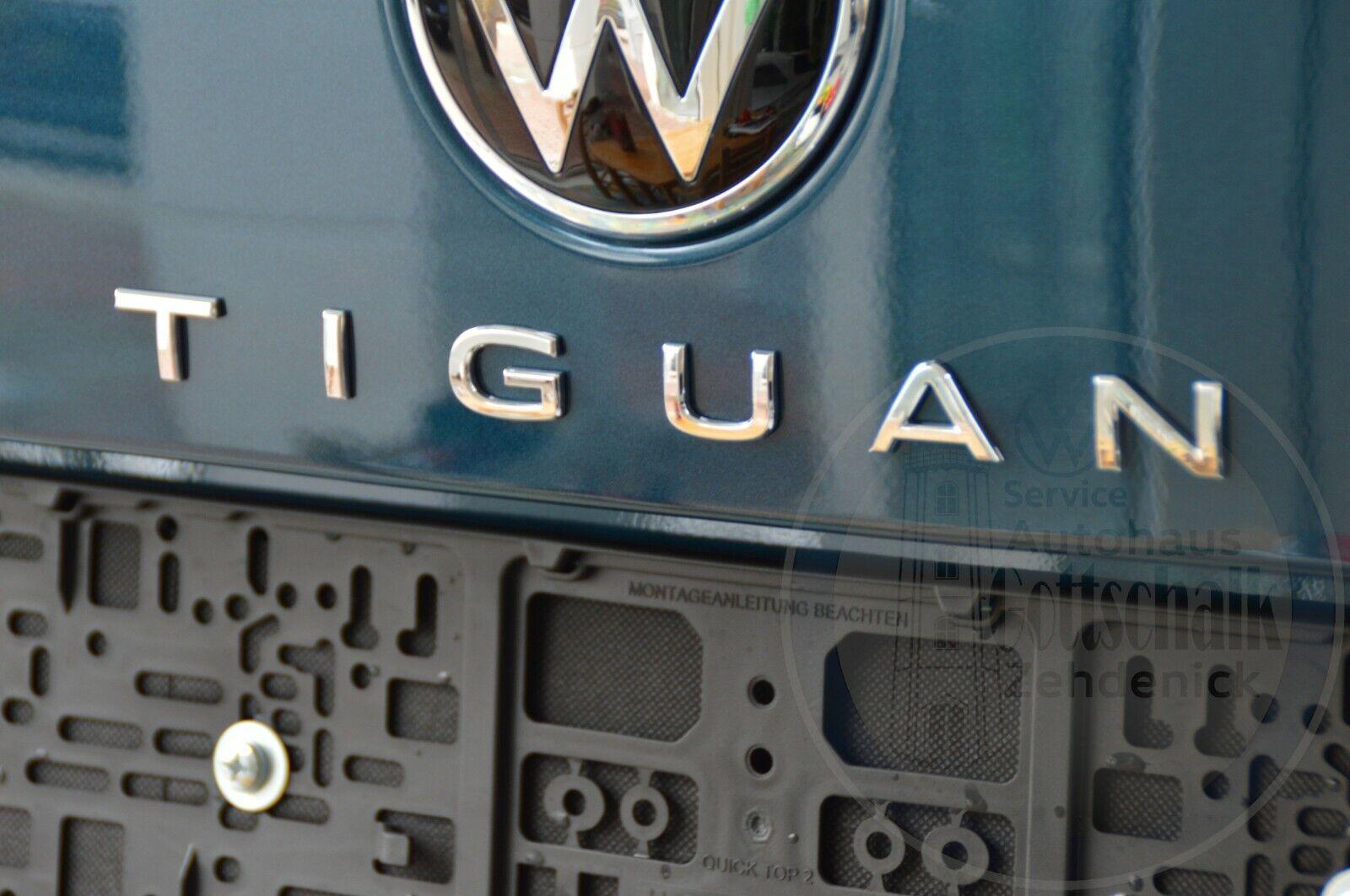 Original VW TIGUAN Facelift Schriftzug Heck Emblem chrom Heckklappe 5NA853687H 2ZZ