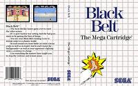 Black Belt Custom Sega Master System Game Case (no Game)