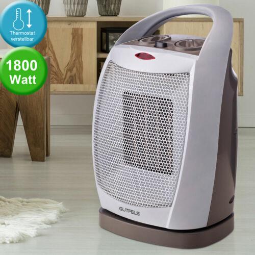 Elektro calor sopladores 1800 vatios 2 escalones residenciales habitación termostato mango ventilador blanco