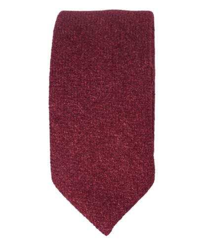 Mens Boys Kids Wedding Herringbone Tweed Burgundy Slim Tie /& Pocket Square Set