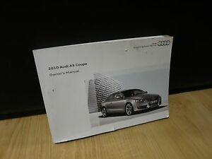 2010 audi a5 coupe owners manual guide book ebay rh ebay co uk 2010 audi s5 owners manual pdf 2010 audi a5 convertible owners manual
