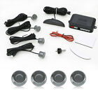 Gray 4 Parking Sensors LED Display Car Reverse Backup Kit System