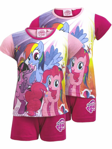 MY LITTLE PONY:GIRLS SHORTIE PYJAMA,PINK OR CERISE,2,3,4,5,6YR,NEW WITH TAGS