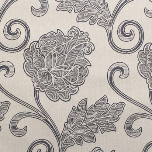 Natural Azul Grande Floral Cojín para sofá de asientos de tela de tapicería
