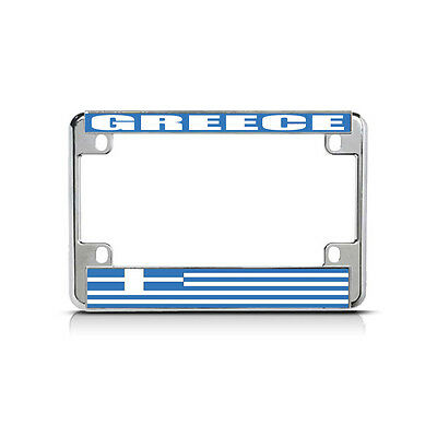 ITALIAN ITALY FLAG METAL MOTORCYCLE BIKE License Plate Frame Tag Holder