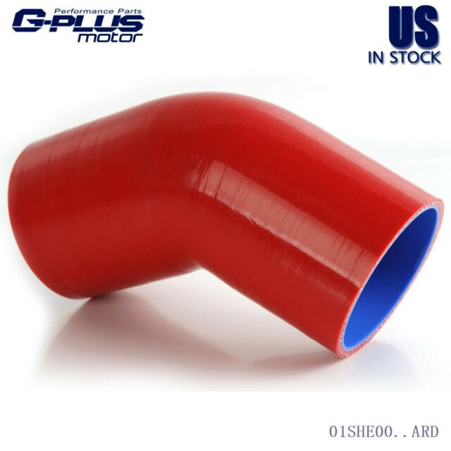 """2/""""/< 2.5/"""" 45 degree silicone reducer elbow RED"""
