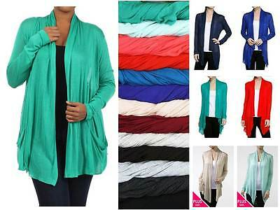 LONG SLEEVE OPEN DRAPE CARDIGAN WITH POCKET SHAWL COLLAR SEMI SHEER KNIT SWEATER