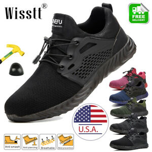 Womens-Work-Boots-Steel-Toe-Cap-Safety-Shoes-Reflective-Lightweight-Sneakers-NEW