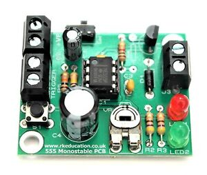 beginners electronic project kit 555 monostable timer project pcbimage is loading beginners electronic project kit 555 monostable timer project