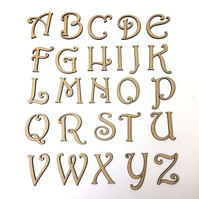 CHRISTMAS FONT WOODEN 3.2MM MDF LETTERS & NUMBERS IN SIZES 2-3-4-5-6-7-8 & 10cm