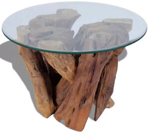Low Round Wood Coffee Table.Details About Tree Coffee Table Round Wood Glass Top Big Low Living Room Farmhouse Furniture