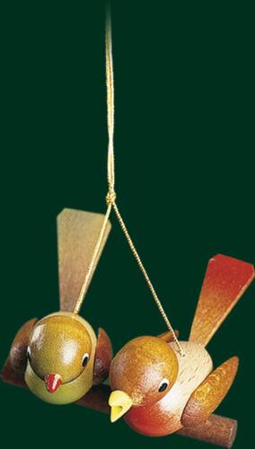 Christbaumschmuck Vogelpaar Baumschmuck Baumbehang Seiffen Weihnachtsbaum 13329