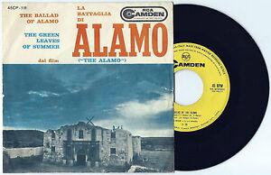 """7"""" TED BENEKE La battaglia di Alamo OST (Rca Camden 60 ITALY) western unique VG+"""