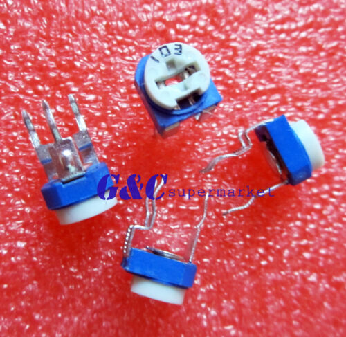 10pcs Blue White 2M OHM Resistance Adjustable Resistor J22