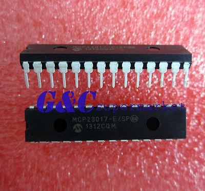 5pcs MCP23017-E/SP DIP28 16-Bit I/O Expander with I2C Interface IC NEW D16