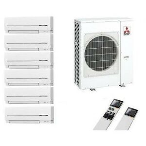 mitsubishi klimaanlage multi split 6 r um inverter 6 x msz. Black Bedroom Furniture Sets. Home Design Ideas