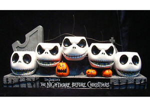 Disney Jack Skellington Head Candle The Nightmare Before Christmas Holder Figure