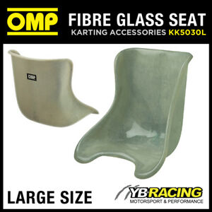 KK05030L OMP FIBREGLASS KARTING KART ADULT SEAT 36 to 38cm SEMI-TRANSPARE<wbr/>NT