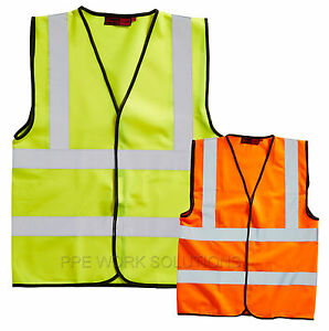 Blackrock-Hi-Vis-Vest-Fluorescent-Safety-Waistcoat-Yellow-amp-Orange-High-Viz