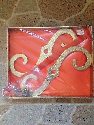 "NIB Vintage McKinney Forged Iron Brass tone Hardware Ornamental 4/"" Bracket Pair"