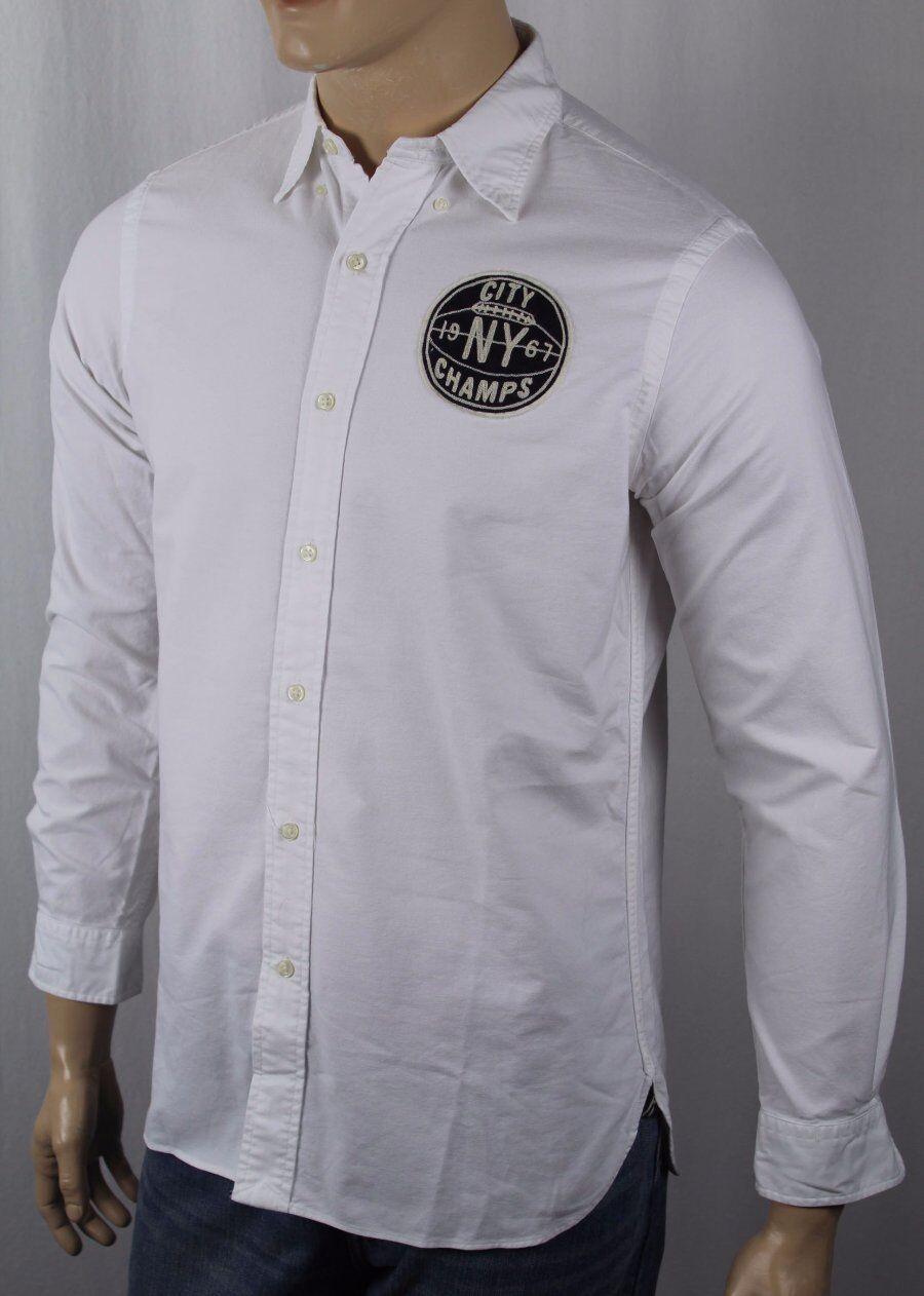 Ralph Lauren Weiß New York NY City Basketball Champs Oxford Dress hemd NWT