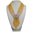 """thumbnail 2 - 9 Strands Yellow JadeWhite PearlNecklace CZ Pave Peacock Pendant19.5"""""""
