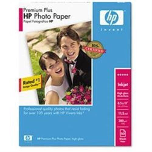 "*NEW* 5qty Lot HP Premium Plus Photo Paper High Gloss 50 Sheets 8.5 x 11/"" Q1785A"